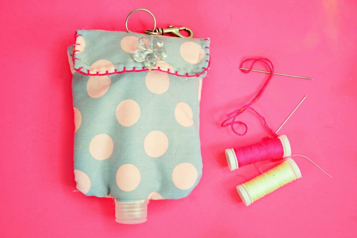 bolsa para guardar desinfectante