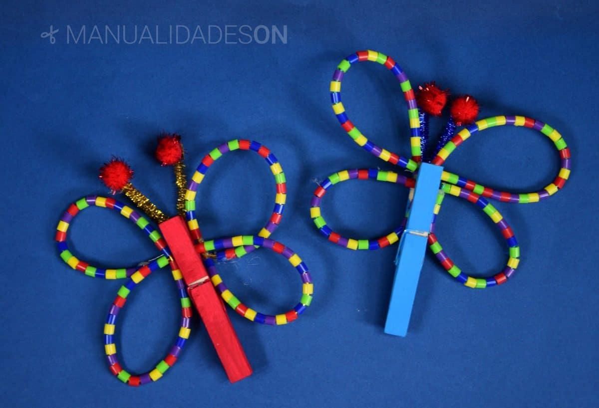 Mariposas con abalorios de Hama Beads
