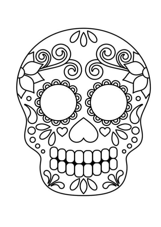 Caretas de calaveras Mexicanas