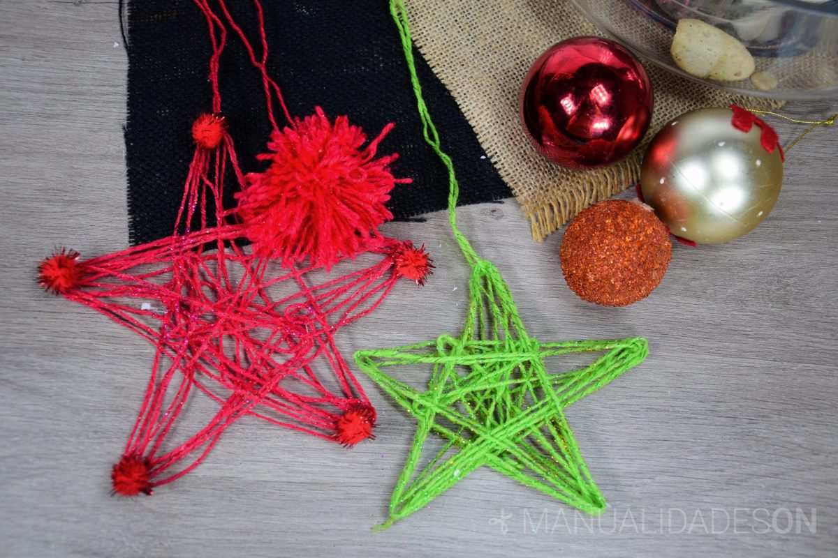 Estrellas colgantes para Navidad