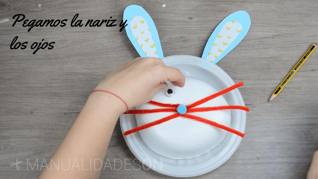 Conejo de pascua para guardar golosinas
