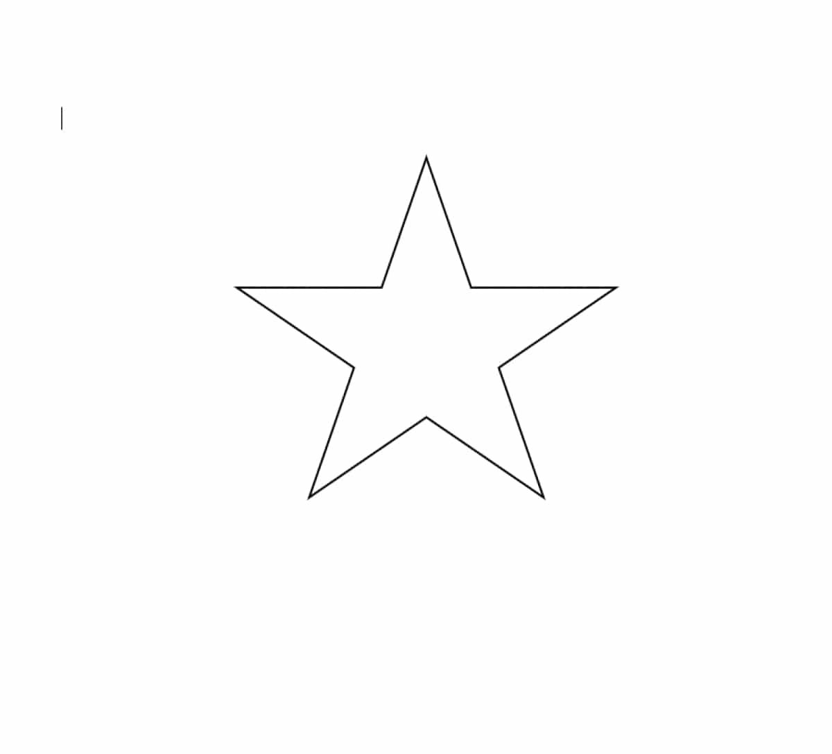 Estrella para imprimir
