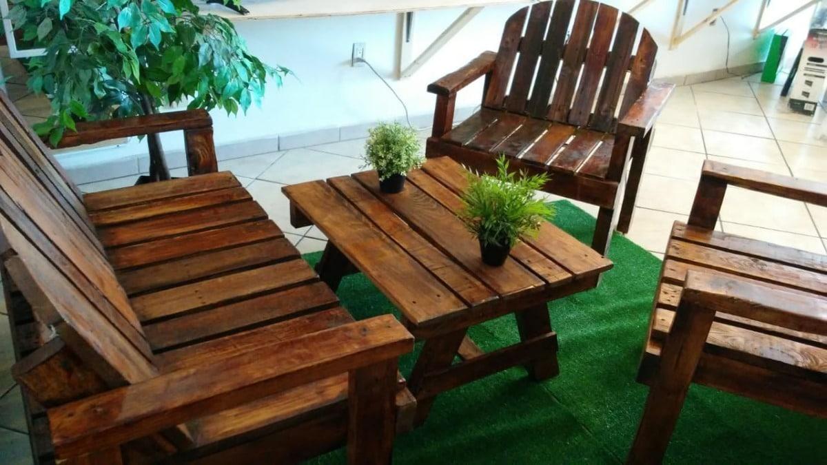 muebles rusticos jardin