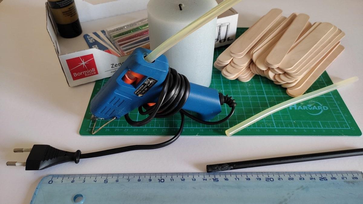 Materiales para hacer el portavelas
